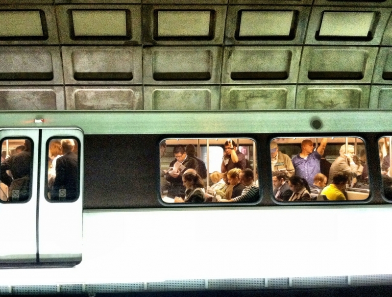 Jessica Del Vecchio Photography Metro Rush Hour Washington DC